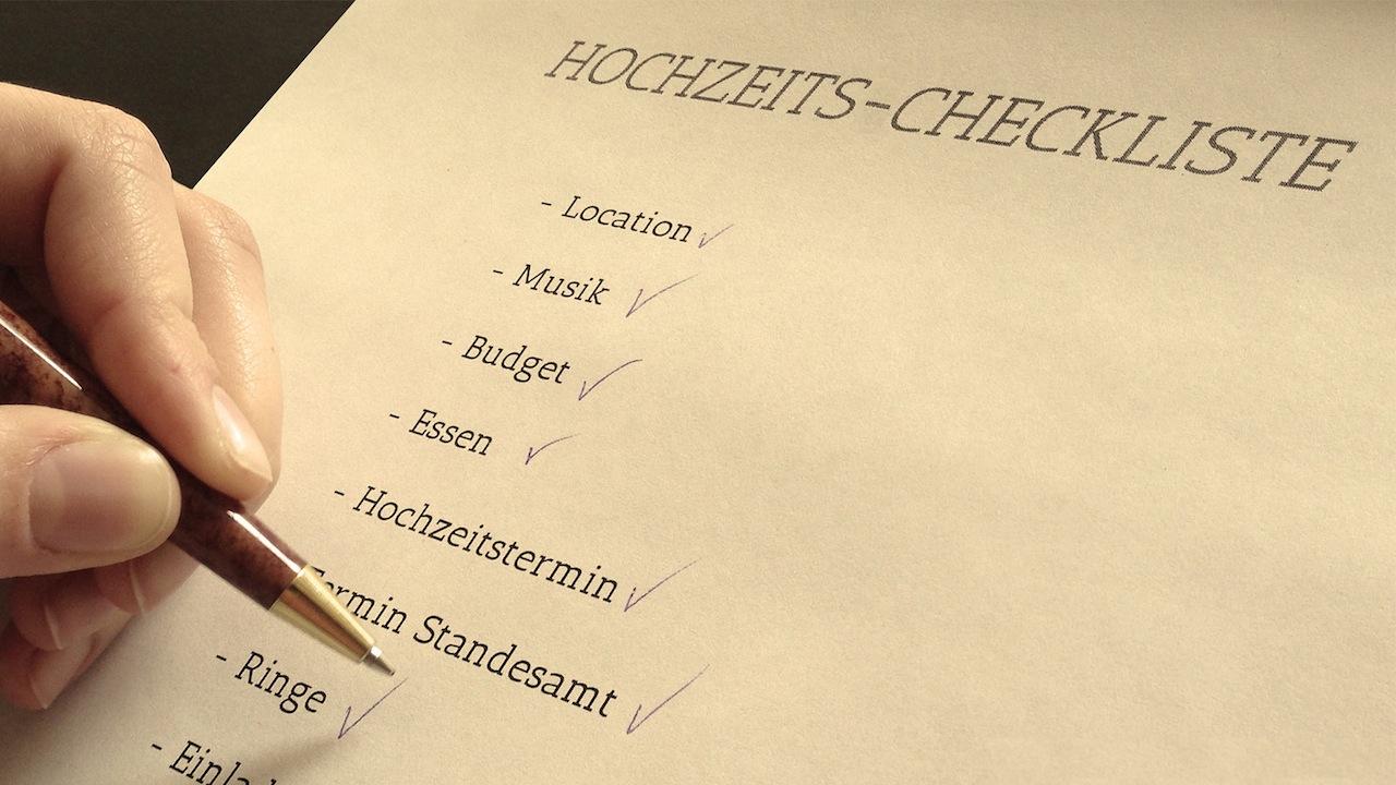 Hochzeit checkliste catering